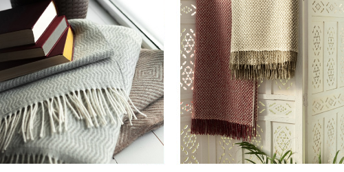 Decken und Plaids aus 80% Wolle