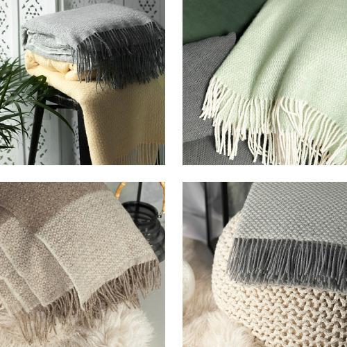 Decken und Plaids aus 80% Wolle und Acryl
