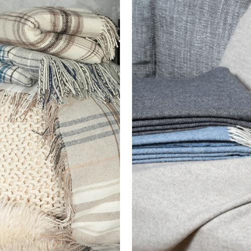 Plaids und Decken aus Wolle und Kaschmir